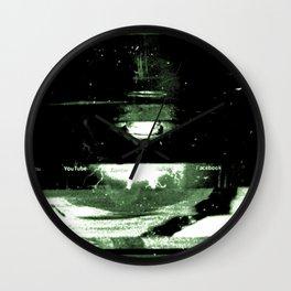 Digital Dissonance Green Wall Clock