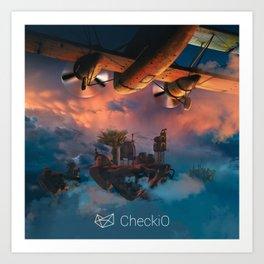 CheckiO islands Art Print