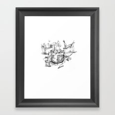 Fried calamari Framed Art Print