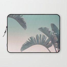 Tropical Palm Leaves In Pastel Light Laptop Sleeve