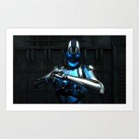 Cybor ready to fight Art Print