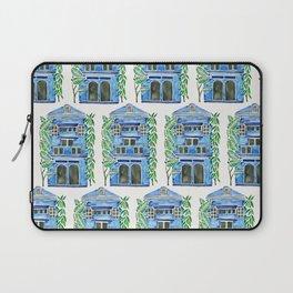 Tropical Blue House Laptop Sleeve