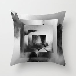 Jade Dragon Mountains Throw Pillow