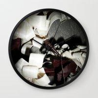 valentine Wall Clocks featuring Valentine by Françoise Reina