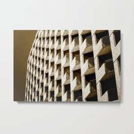 Hotel Balconies-Sepia Metal Print