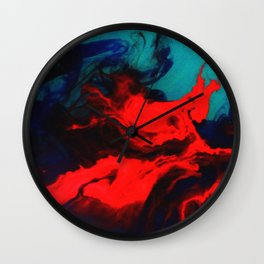 color spill Wall Clock