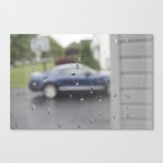 Mustang in Rain Canvas Print