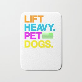 Lift Heavy Pet Dogs Gym shirt for Weightlifters Pullover Hoodie Bath Mat