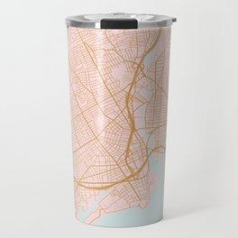 Bridgeport map, Connecticut Travel Mug