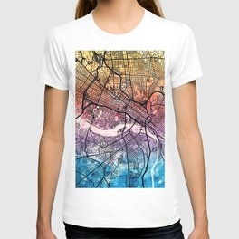 Richmond Virgina City Map T-shirt