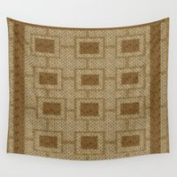 rug Wall Tapestries featuring Vintage Rug  by DesignsByMarly