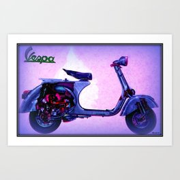Vespa Scooter Art Print