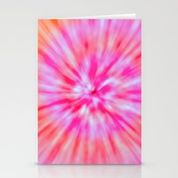 tie dye Stationery Cards featuring TIE DYE by Nika