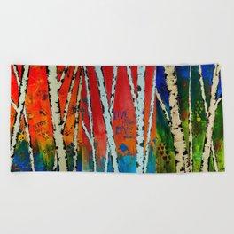 Birch Tree Stitch Beach Towel