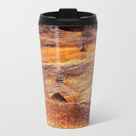 Valley in orange Metal Travel Mug