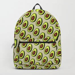 Avocados on Beige, Diagonal Backpack