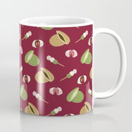 Japanese sweets (Burgundy) Coffee Mug