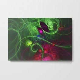Curly Neon Galaxy Metal Print