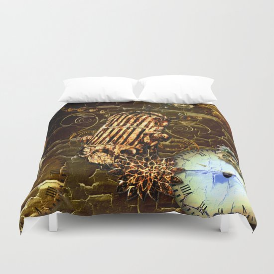 Steampunk, micropphone Duvet Cover