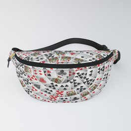 Playing cards swirl Fanny Pack