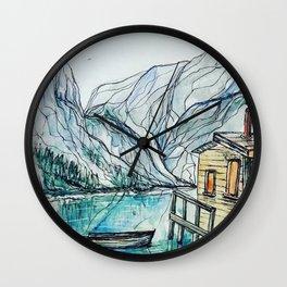 Cabin on the Lake Wall Clock