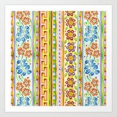Parterre Botanique Vertical Art Print