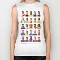 coffee Biker Tanks featuring Playmakers by Daniel Nyari