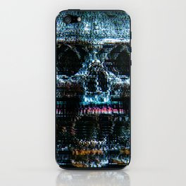 Analogue Glitch Skull Array iPhone Skin