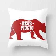 Bear Silhouette  Throw Pillow