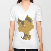 terrier V-neck T-shirts featuring Terrier by thinkgabriel