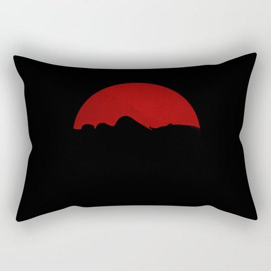 Samurai Girl Rectangular Pillow
