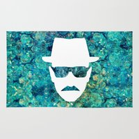 walter white Area & Throw Rugs featuring Walter White by Lauren Miller