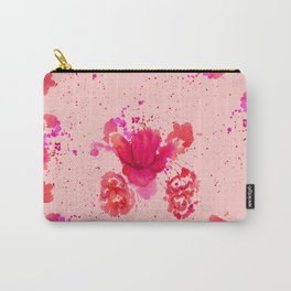 Purple Watercolor Flower Carry-All Pouch