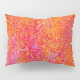 Tequila Sunrise-sunset, orange, abstract, bright, vivid Pillow Sham