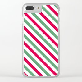 Holiday Stripes Clear iPhone Case
