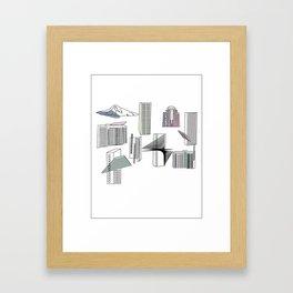 Portland Buildings Framed Art Print