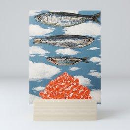 Surreal Fish with Roe Mini Art Print