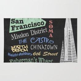 San Francisco Tourism Poster Rug
