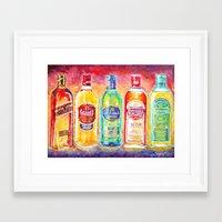 whiskey Framed Art Prints featuring Whiskey by LiliyaChernaya
