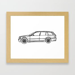 2004 325i German Wagon Framed Art Print