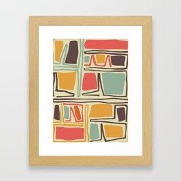 Whimsical abstract pattern design Framed Art Print