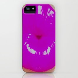 Hedonism Pouty Lips iPhone Case