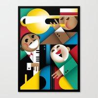 jazz Canvas Prints featuring Jazz by Szoki