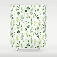 leaves Shower Curtains featuring Leaves by Vicky Webb