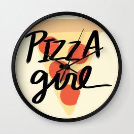 Pizza Girl Wall Clock