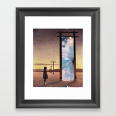The broken window Framed Art Print
