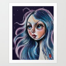 The Starry Sky - Pop Surrealism Illustration Art Print