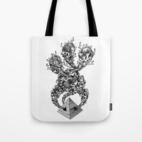 pyramid Tote Bags featuring Pyramid by Vera Moire