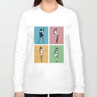 burlesque Long Sleeve T-shirts featuring Burlesque Wars by V-GRAFIX