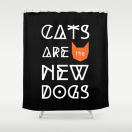 CATS ARE - BLACK Shower Curtain